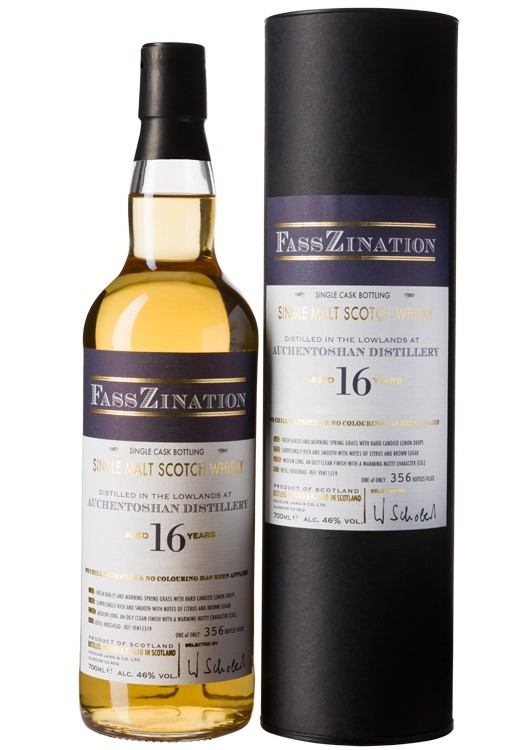 Lowland Single Malt Scotch Whisky, 16 Jahre, distilled at Auchentoshan Distillery