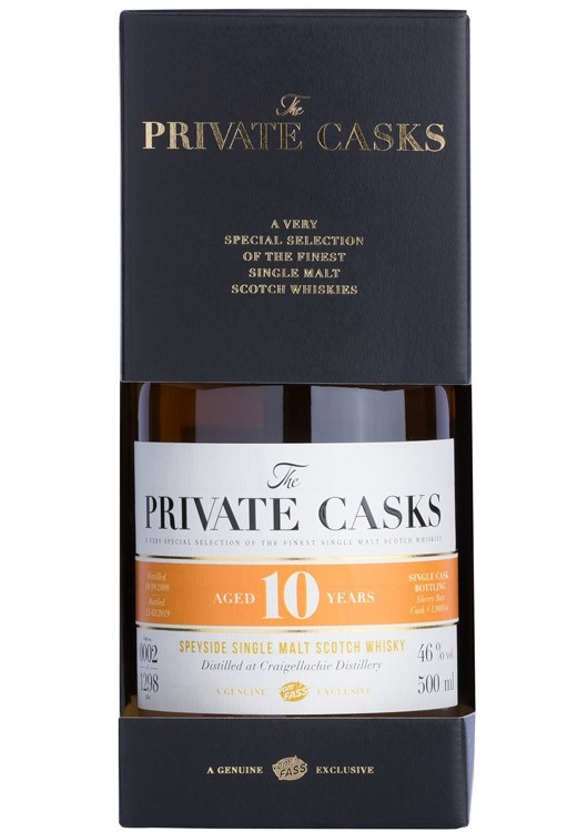 Speyside Single Malt Scotch Whisky Distilled at Craigellachie Distillery Single Cask, 10 Jahre (500 ml) #L900846