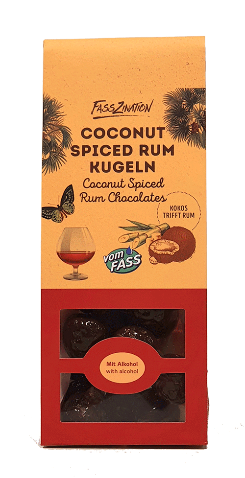 Coconut Spiced Rum-Kugeln