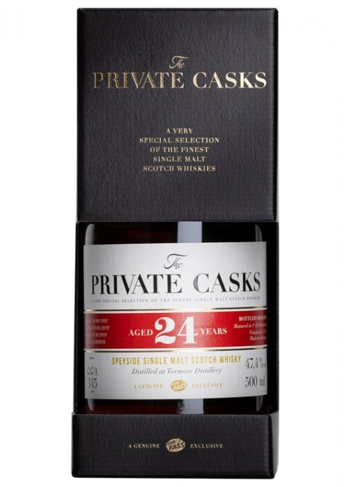 Speyside Single Malt Scotch Whisky Distilled at Tormore Distillery Single Cask, 24 Jahre, (500 ml) #L1902036,